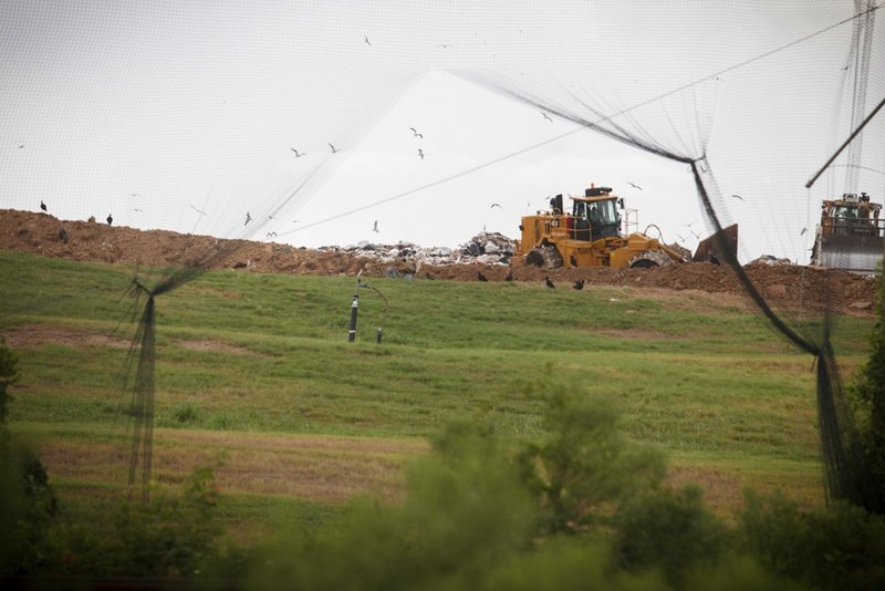 The McCarty Road Landfill in northeast Houston. As Houston considers a new plan for boosting its low recycling rate, some critics worry that it will continue the legacy of putting waste facilities in predominantly minority neighborhoods (photo from the Texas Tribune).