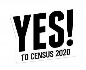 Yes to Census 2020 logo