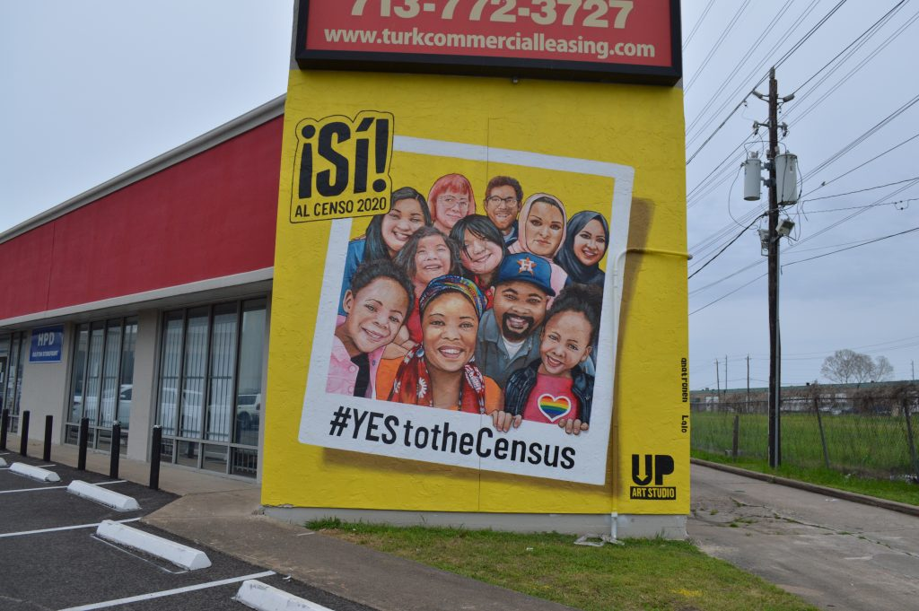 Photo of Yes to the Census 2020 Mural in Gulfton Neighborhood of Houston
