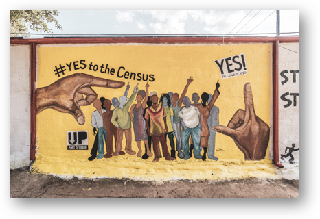 Yes to the Census 2020 Mural in South Central Houston by January Advisors